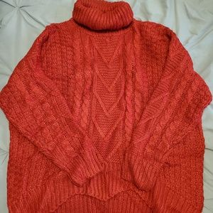 Pink Lily Red Knit Sweater
